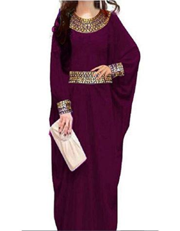 African Style Fashion Golden Beaded Lycra Kaftan