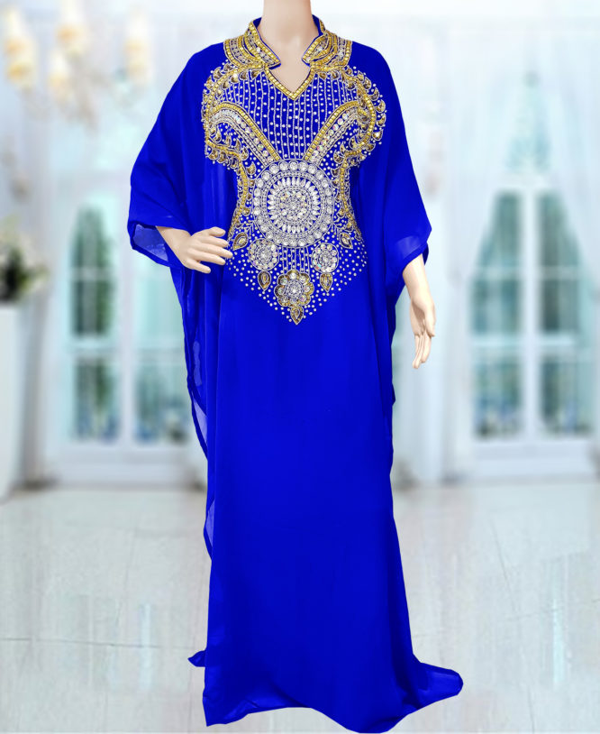 Embellished Wedding Moroccan Dress Plus Size Robe Dubai Kaftan Abaya for Women