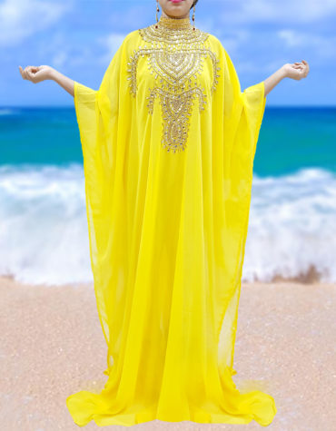 Cover up Beach Wear Plus Size Beaded Kaftan Dresses for Women