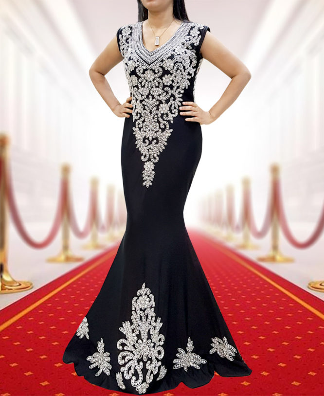 Lycra Prom Sleeveless Open Back Elegant Party wear Bridesmaid Dress for Women 2019