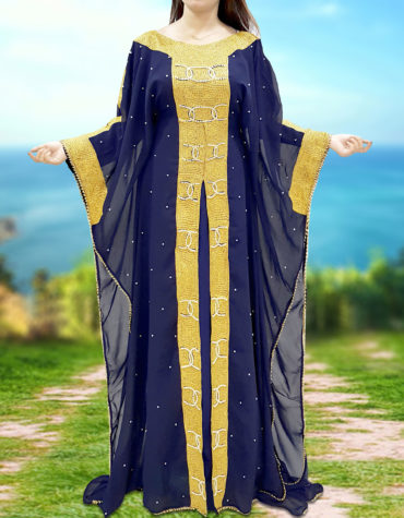 Dubai Kaftan Muslim Abaya Wedding Arabian Dress Plus Size Formal Gown for Women