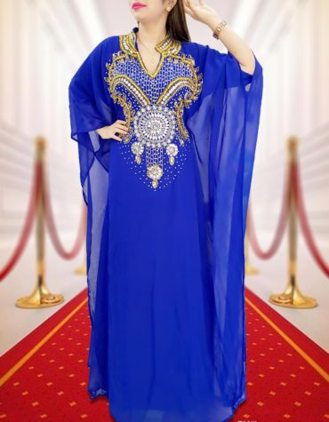 Embellished Wedding Moroccan Dress Plus Size Robe Dubai Kaftan Abaya for Women