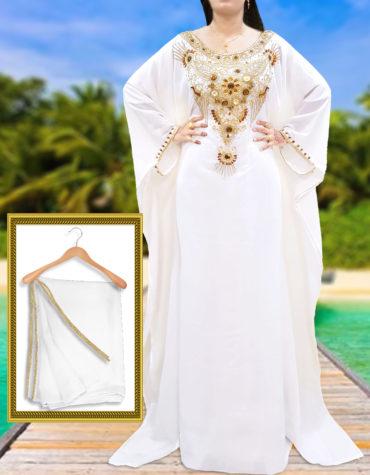 Elegant Gown Plus Size African Attire Dresses for Women Abaya Dubai Kaftan