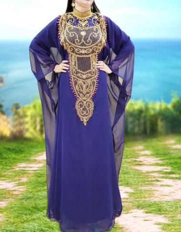 Dubai Abaya Evening Gown Party Wear Beaded Moroccan kaftan African Dresses
