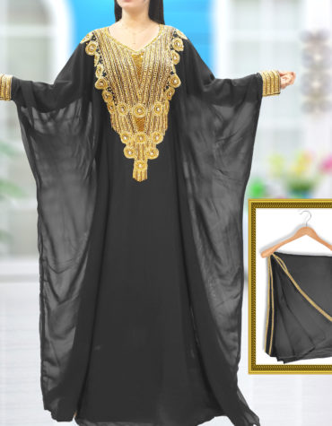 Dubai Kaftan African Attire Party Wear Beaded Dress Arabian Muslim Wedding Jalabiya