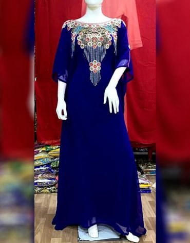 African Attire Long Kaftan dresses Dubai Morrocan Beaded Dresses For Women