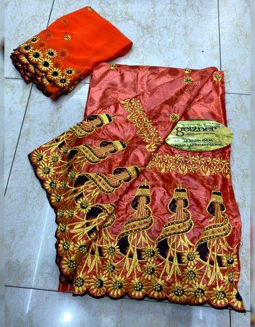 100% Super Magnum Gold Getzner Riche Bazin Latest Design Dress Material For Women
