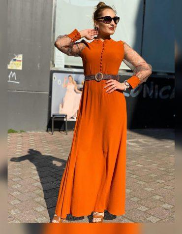 African Attire Formal Full Plain Gown Dresses for Women Party Dubai Wear