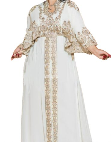 Gold Embroidered Elegant formal Gown African Dresses for Women Moroccan kaftan
