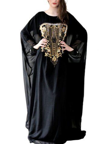 Unique Design Kaftan Long Sleeve Premium Maxi Gown Evening Party Dress For Women